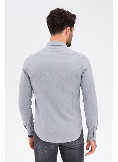 Avva Slim Fit Uzun Kollu Gömlek Gri